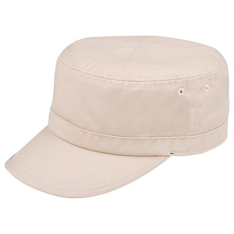 Colorful Washed Military Cap - Stone