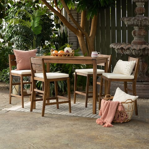 5-Piece Acacia Counter Height Dining Set by Havenside Home