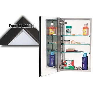 """Alno MC30244 3000 Series 15"""" x 25"""" Single Door Recessed Medicine Cabinet with Stainless Steel Interior and Traditional Framed"""