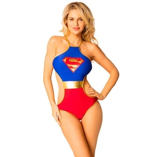 DC Comics Superman Logo Criss-Cross Monokini Swimsuit