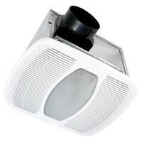 Air King LEDAK100 100 CFM 2 Sone Ceiling Mounted LED Light Energy Star Rated Exhaust Fan - White