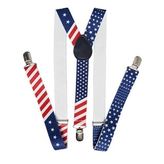 United States of America Flag Red White Blue Suspender - One size