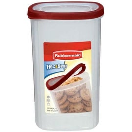 Rubbermaid 1777194 Flex & Seal Food Canister 1.1Gallon, Red