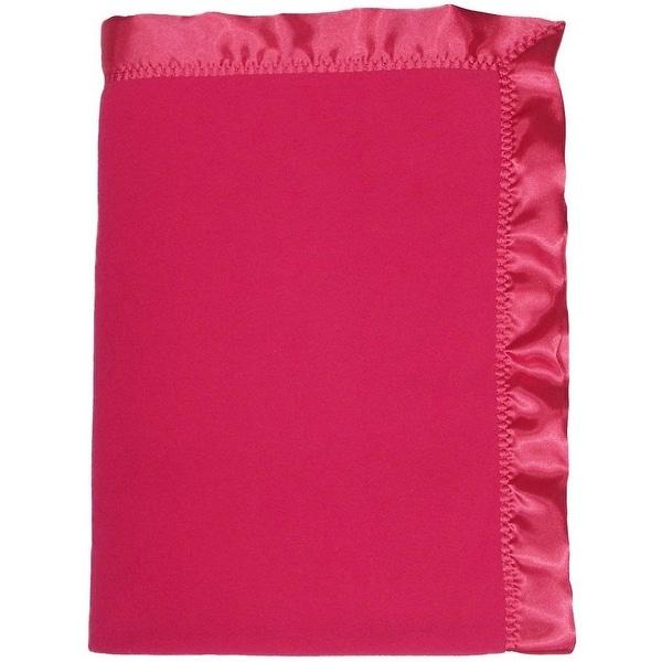"""Raindrops Baby Girls Fleece Girl Crib Blanket, Raspberry, 36"""" X 52"""" - One size"""