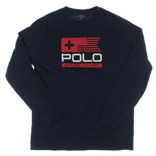 Polo Ralph Lauren Boys T-Shirt Graphic Long Sleeves - L