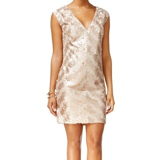 Rachel Rachel Roy NEW Gold Womens Size 14 Embellished Sheath Dress