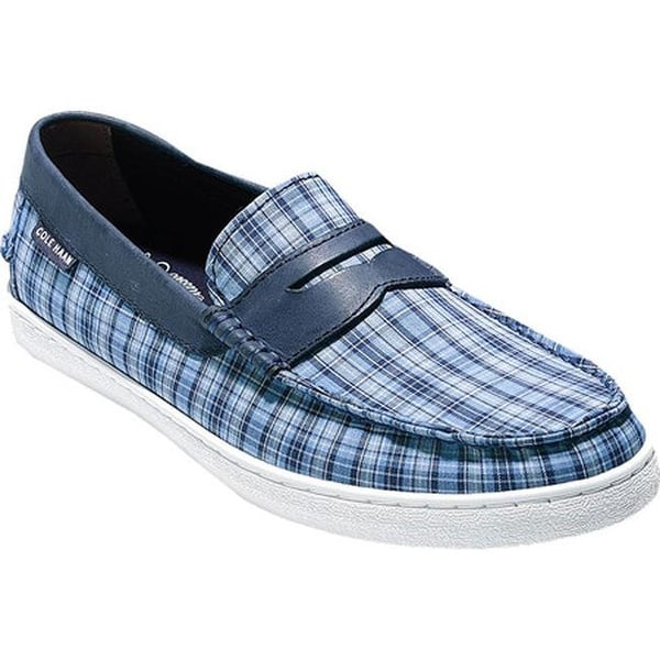 4bcc346726e Cole Haan Men  x27 s Pinch Weekender Loafer Cornwall Blue Madras Navy Ink
