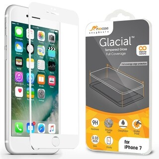 rooCASE iPhone 7 White Border Edge to Edge Tempered Glass Protector for Apple iPhone 7 4.7-inch