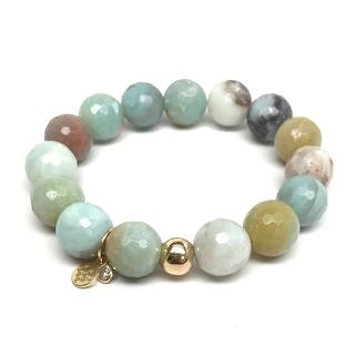 "Green Amazonite Lauren 7"" Bracelet