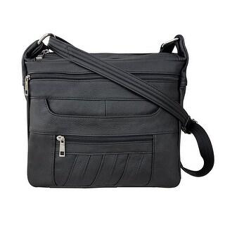 Leather Concealed Carry Crossbody Purse - YKK Locking CCW Ambidextrous Gun Bag Roma 7082