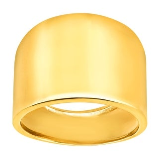 Just Gold Wide Band Ring in 14K Gold - Yellow