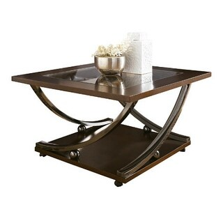 Rollins Square Cocktail Table Dark Brown Rollins Square Cocktail Table Dark Brown