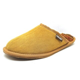 Muk Luks Dave Men  Round Toe Suede Tan Slipper