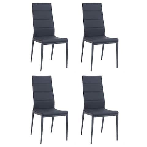 Somette Jacelyn Stitched-Back Side Chair, Set of 4
