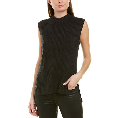 Vince Ribbed Wool & Cashmere-Blend Tunic - 965HCH-H. CHARCOAL
