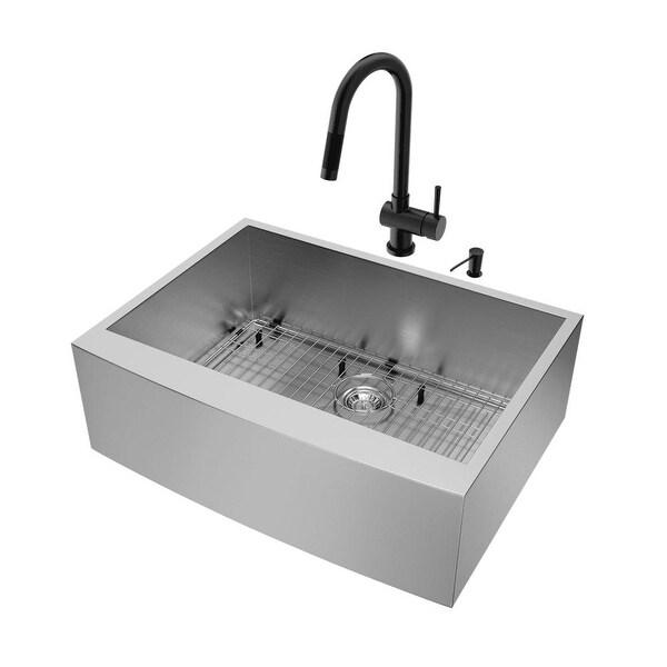 Shop Vigo Vg15372 30 Undermount Kitchen Sink With Gramercy Faucet