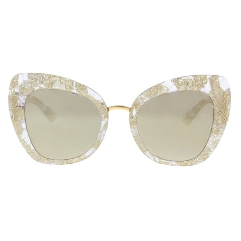 Dolce & Gabbana DG4319 31535A Gold Lace Cat Eye Sunglasses - 51-22-140