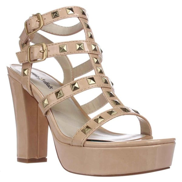 Seven Dials New Age Strappy Studded Sandals, Nude