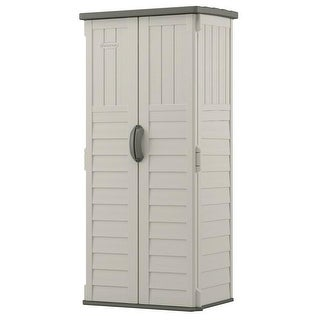 Link to Outdoor Heavy Duty 22 Cubic Ft Vertical Garden Storage Shed in Taupe Grey Similar Items in Storage & Organization