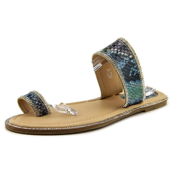 G.C. Shoes Icy Open Toe Synthetic Slides Sandal