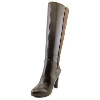 Nine West Getm Girl Round Toe Leather Knee High Boot