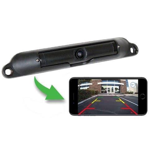 Boyo Wi-Fi Wireless License Plate Camera viewable through an App on Smartphone