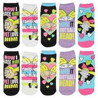 Nickelodeon Hey Arnold! Helga Love Hate Women's 5 Pack Ankle Socks