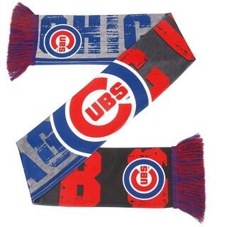 Chicago Cubs Printed Big Logo Scarf