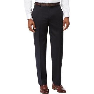 Tommy Hilfiger Mens Suit Pants Wool Trim Fit