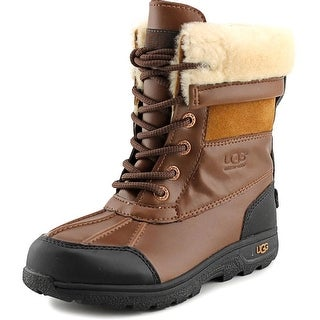 Ugg Australia K Butte II Youth Round Toe Leather Brown Snow Boot