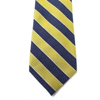 Tommy Hilfiger NEW Yellow Blue Men's One Size Denim Bar Stripe Neck Tie