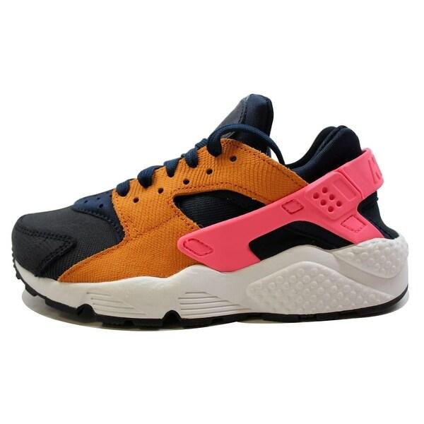 Nike Women's Air Huarache Run Premium Obsidian/Black-Sunset-Digital Pink 683818-401
