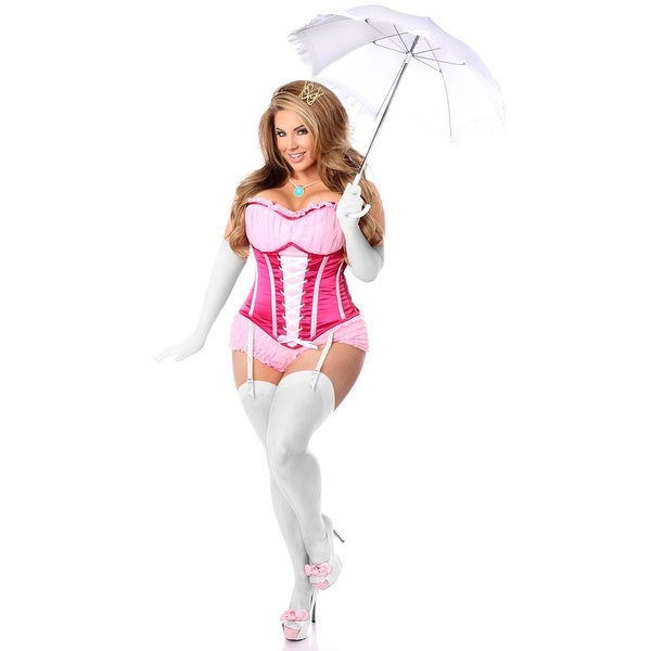 Shop Plus Size Hoty Pink Princess Corset Costume Plus Size Mushroom