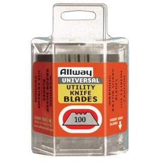 Allway Tools DSP100 3 Notch Utility Knife Blades, 100/Pack