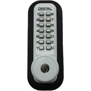 Lockey 2500KO 2000 Series Keyless Entry Single Combination Sliding Door Mechanical Knob Set with Key Override