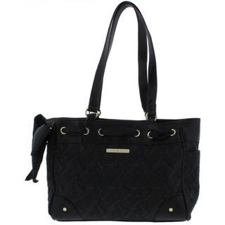 Juicy Couture Womens Sweet Dreams Satchel Handbag Faux Leather Trim Logo -  MEDIUM bd38b6f05