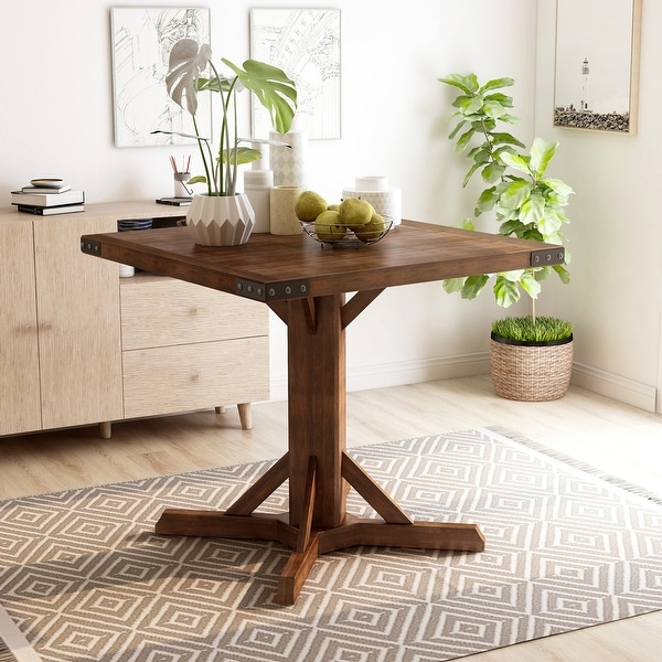 Furniture of America Verdorn Rustic 40-inch Counter Height Table. Opens flyout.