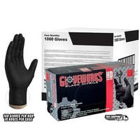GLOVEWORKS Black Nitrile Industrial Latex Free Disposable Gloves (Case of 1000)