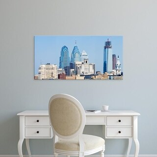 Easy Art Prints Panoramic Image 'Skyscrapers in a city, Philadelphia, Philadelphia County, Pennsylvania' Canvas Art