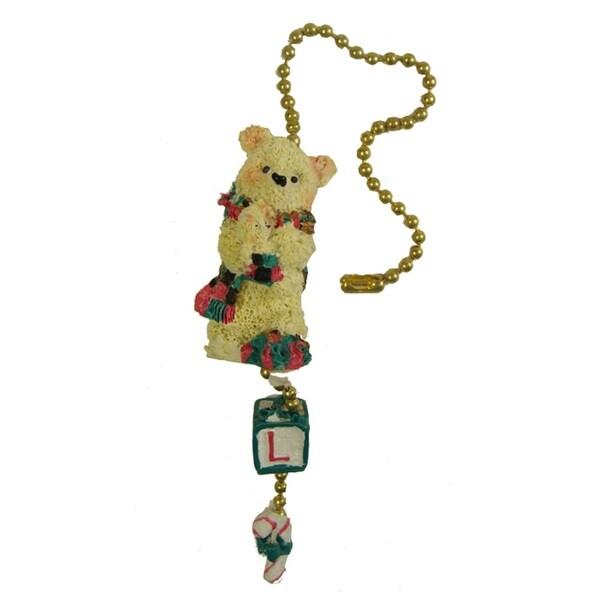 Club Pack of 144 Decorative Tartan Bear Christmas Fan Celing Lamp Pulls