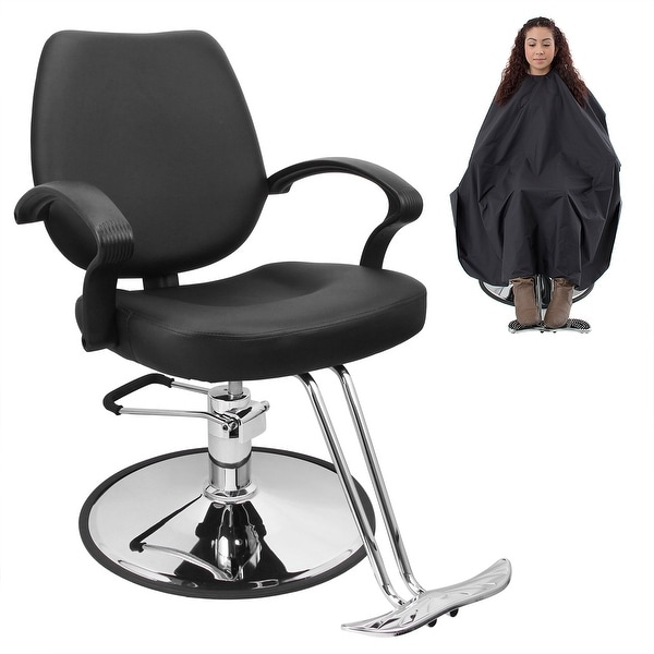 Bellavie Classic Hydraulic Barber Chair with Barber Cape