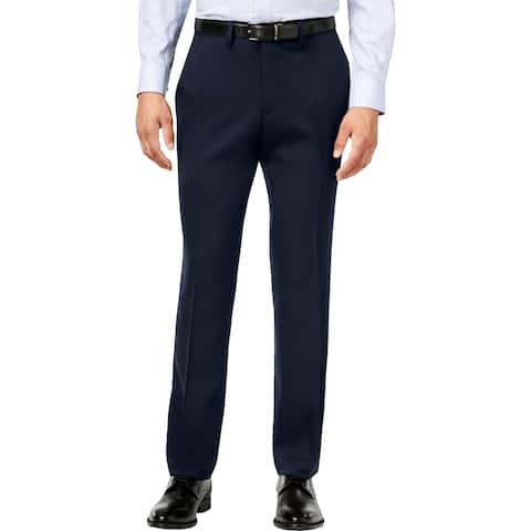 Kenneth Cole Reaction Mens Dress Pants Slim Fit Flat Front