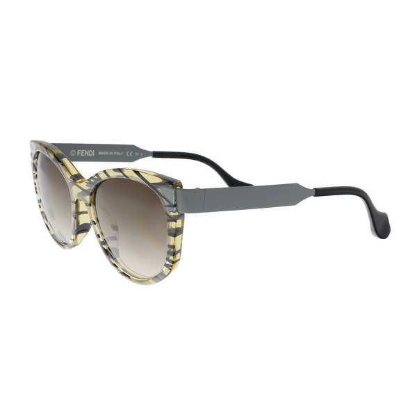 ee6d032cb7ae Shop FENDI FF 0181 S 0VDW Yellow Grey Cat Eye Sunglasses - No Size ...