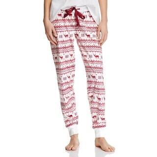 PJ Salvage Womens Sleep Pant Nature Print Fleece - XL