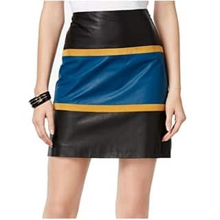 Anne Klein NEW Black Women's Size 16 Colorblock A-Line Leather Skirt|https://ak1.ostkcdn.com/images/products/is/images/direct/4c75ee8464a134f8d06c9ac562b119967dfe621b/Anne-Klein-NEW-Black-Women%27s-Size-16-Colorblock-A-Line-Leather-Skirt.jpg?impolicy=medium