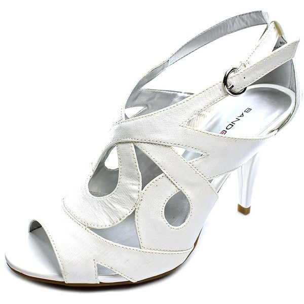 Bandolino Janeta Women Open Toe Synthetic White Sandals