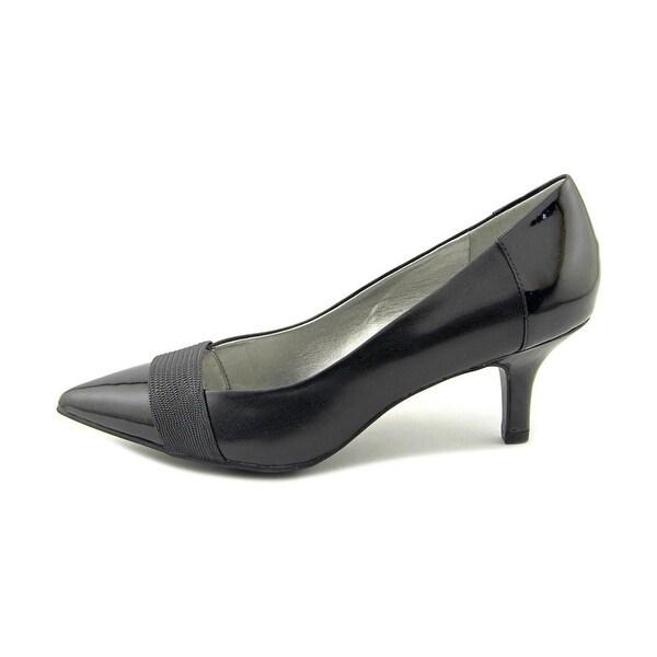 Anne Klein Womens finn Leather Pointed Toe Classic Pumps