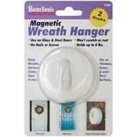 White - Magnetic Wreath Hanger 2.5""