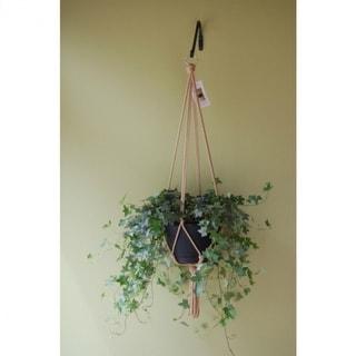"""Primitive Planters 54002176 Macrame Plant Hanger, Assorted Colors, 36"""", 1-Qty"""