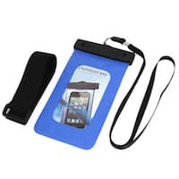 Unique Bargains Waterproof Bag Case Holder Pouch Blue for iPhone 5G w Neck Strap Armband